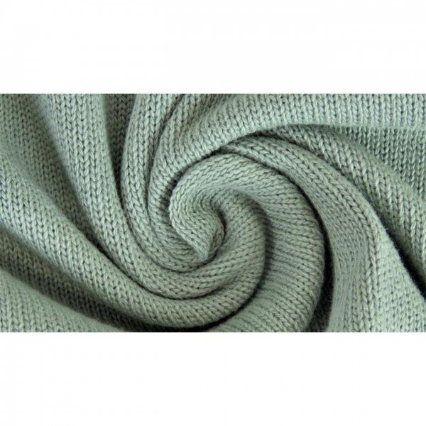 Strickstoff Knitted Cotton Uni - col. 0126 mint