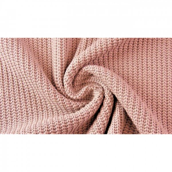"""Grob-Strickstoff """"Knitted Cotton Cable"""" - col. 1413 altrosa"""