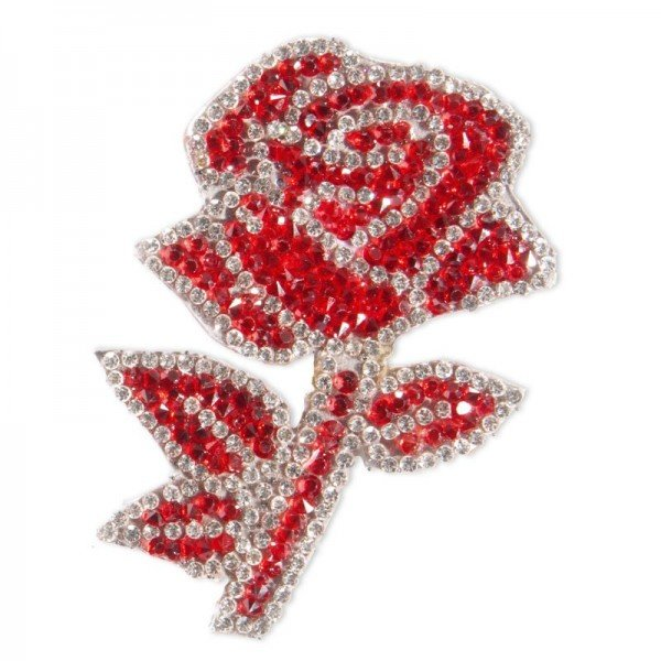Applikation Fashion and Home - Rose rot/silber