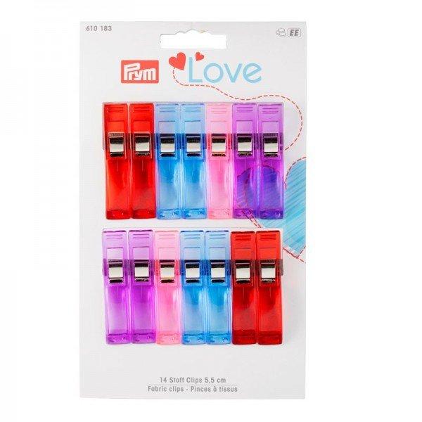 Prym Love Stoff Clips 2,6 cm 12 St