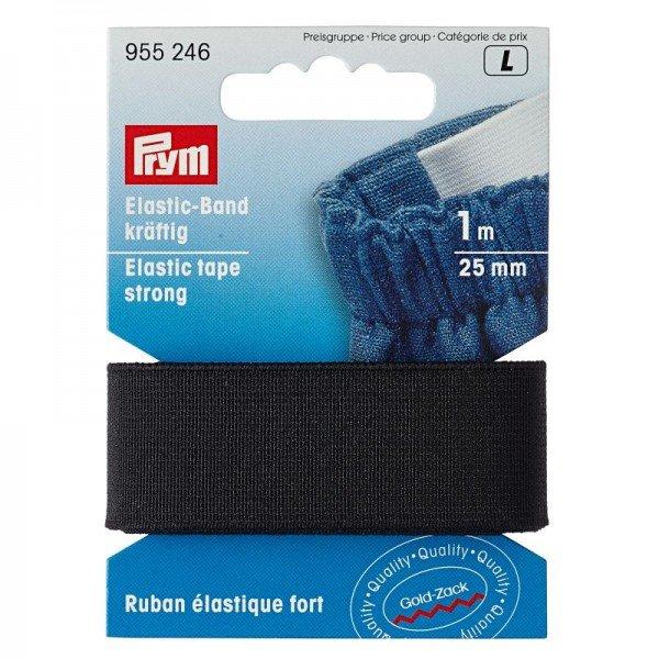 Elastic-Band kräftig - 25mm schwarz 1m