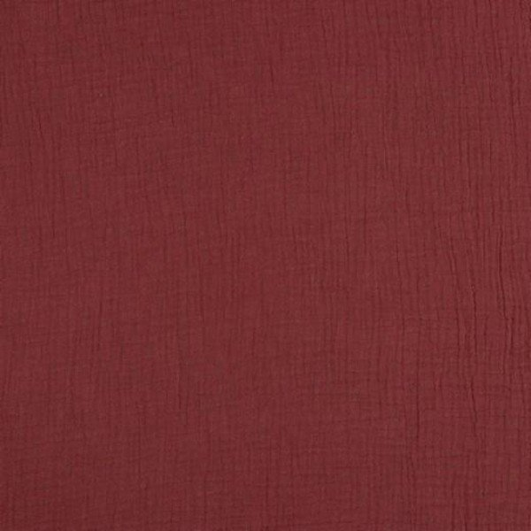 Double Gauze Uni - col. 034 rouge
