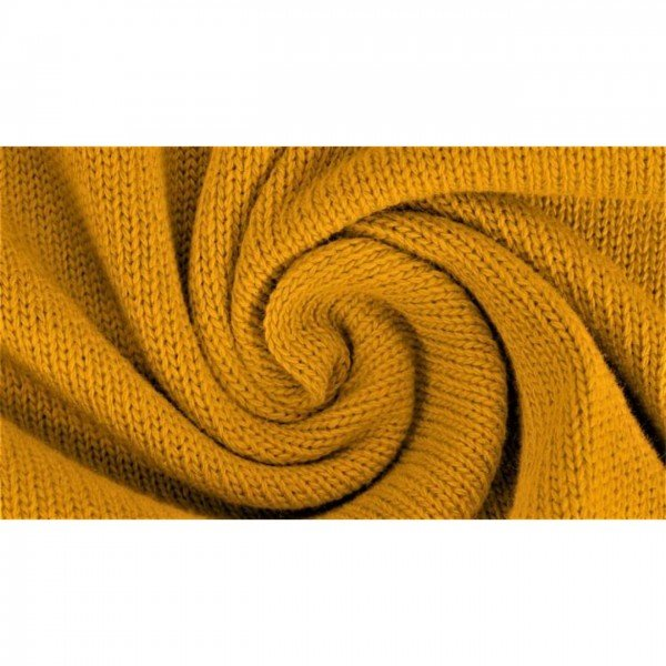 "Strickstoff ""Knitted Cotton Uni"" - col. 1034 senf"