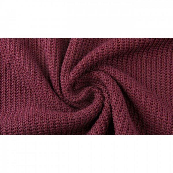 Grob-Strickstoff Knitted Cotton Cable - col. 1119 bordeaux