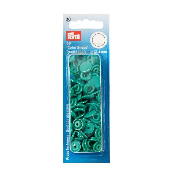Nähfrei-Druckknöpfe Color Snaps rund 12,4 mm grün 30 St
