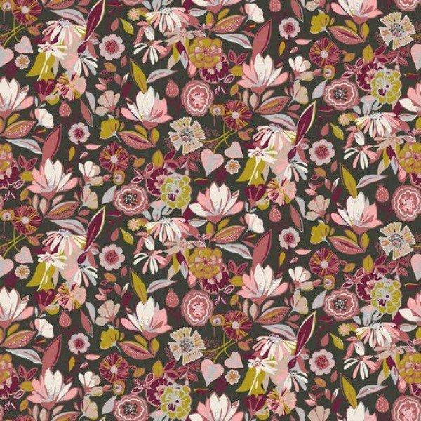 Jersey Tencel Modal - col. 004 dunkelgrün/rosa