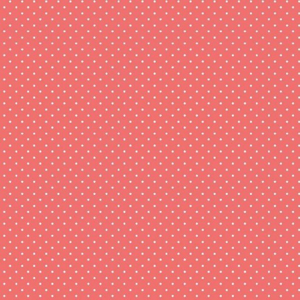 Baumwolle Design Petit Dots - col. 024 coral