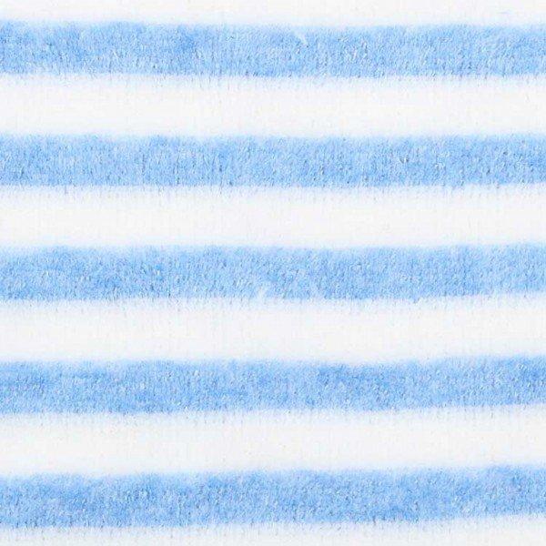 Nicky-Plüsch Stripe - col. 004 blue/ecru