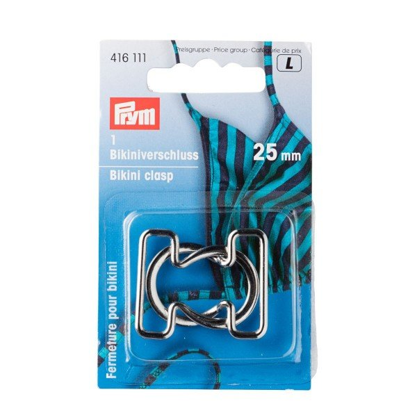 Bikini/Gürtelverschluß Metall silber 25 mm