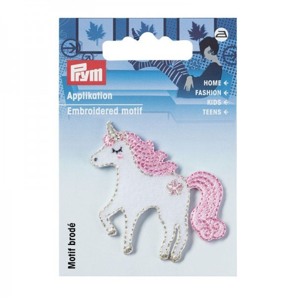 Applikation Kids and Hits - Einhorn weiss/rose