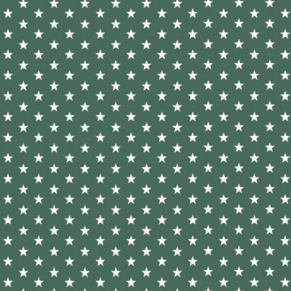 Baumwolle Design Petit Stars - col. 027 dunkelgrün
