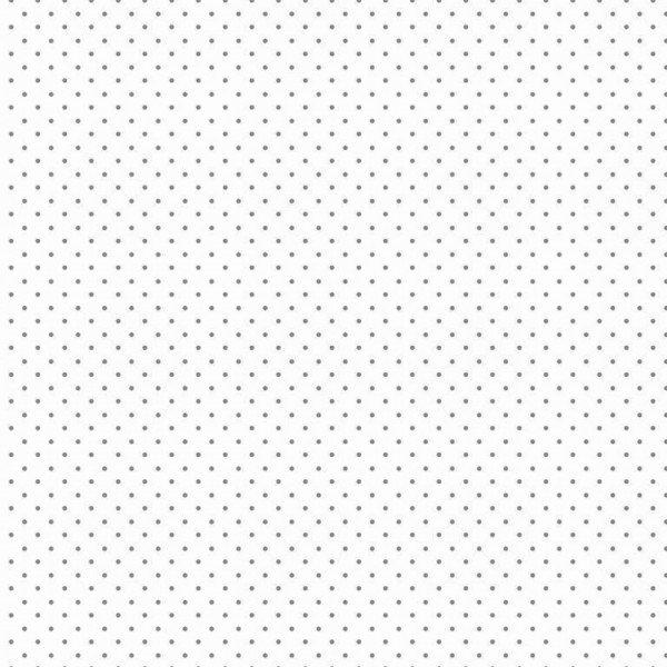 Baumwolle Design Petit Dots - col. 113 weiß/grau