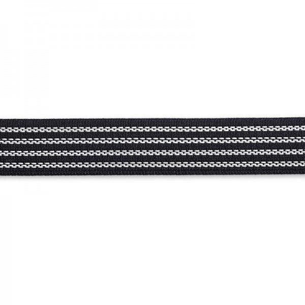 Elastic-Bundband 25 mm schwarz 1,2 m