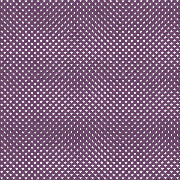 Baumwolle Design Mini Stars - col. 007 purple