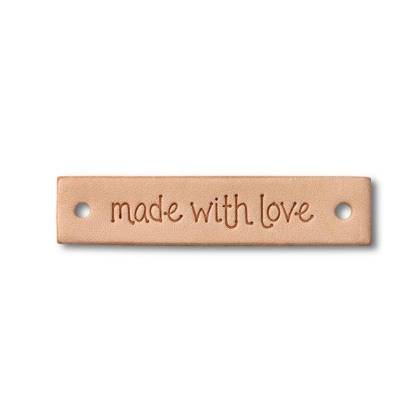 """Label """"made with love"""" rechteckig"""