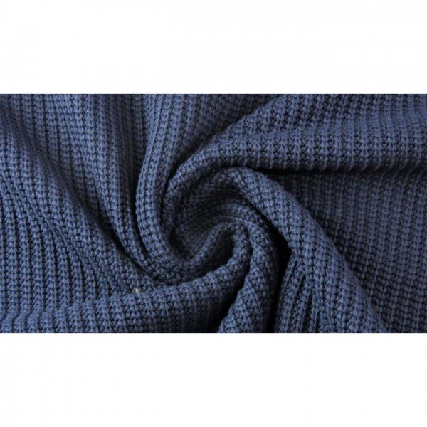 Grob-Strickstoff Knitted Cotton Cable - col. 0008 marine