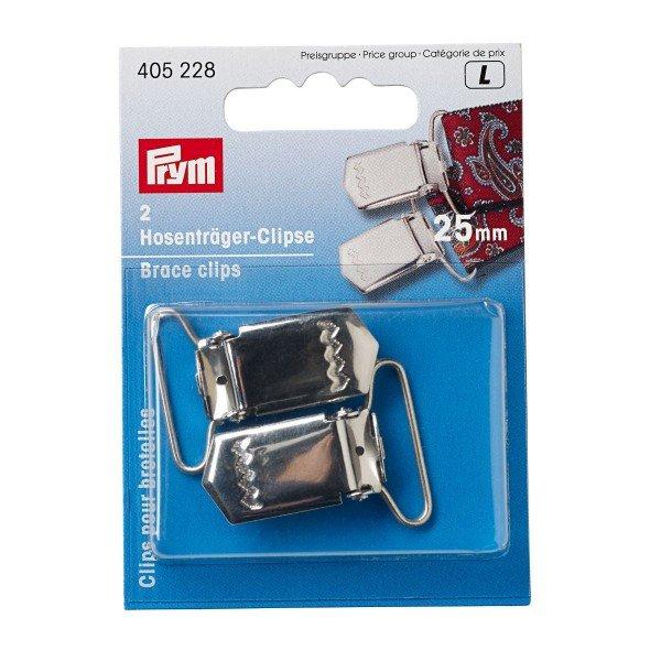 Hosenträger-Clips, 18mm, silberfarbig