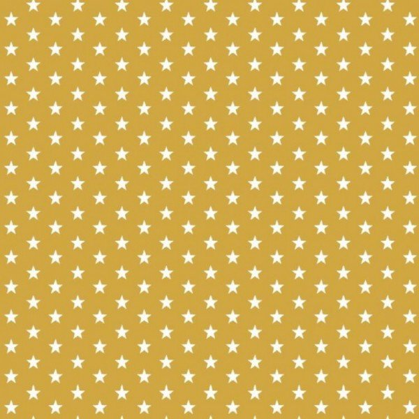 Baumwolle Design Petit Stars - col. 026 ocker