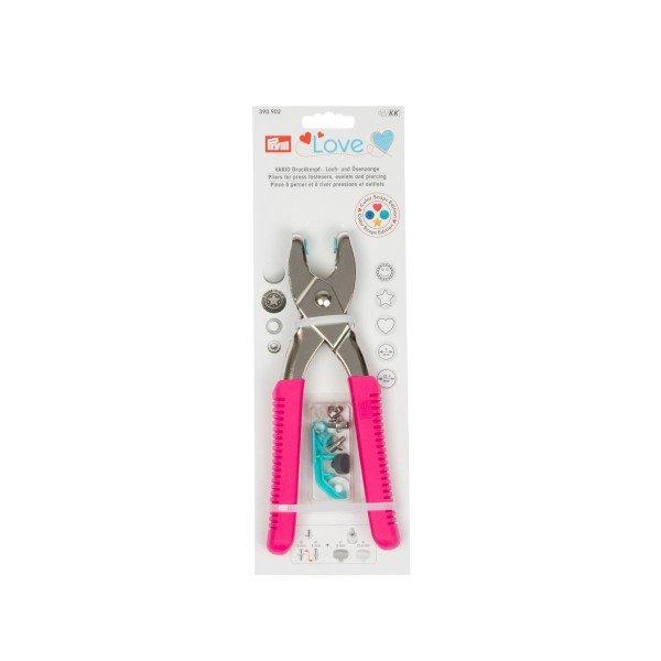 Prym Love Vario-Zange mit Loch-/Color Snaps Werkzeug pink