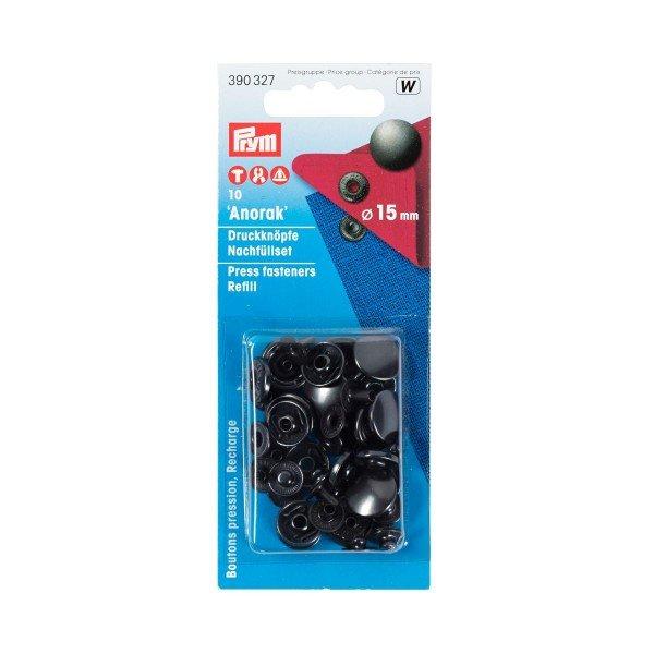 Nähfrei-Nachfüllpackung ohne Werkzeug 15 mm brüniert 10 St