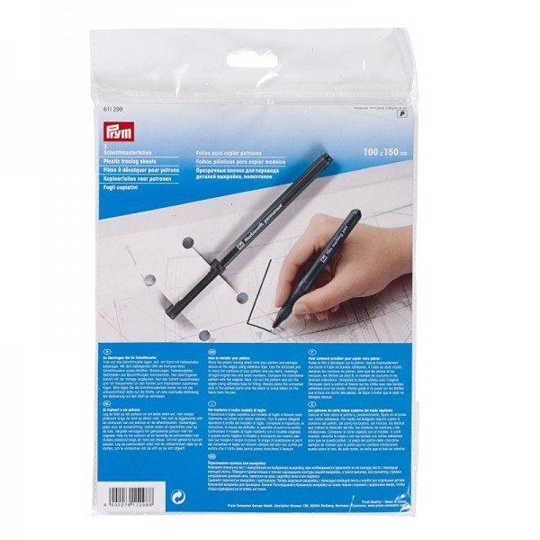 Schnittmusterfolien 1,5 m mit Stift 3 St