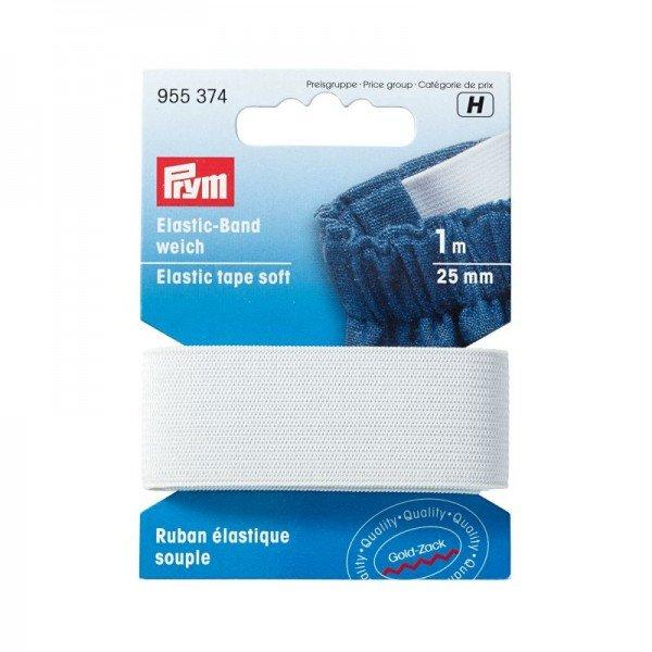 Elastic-Band weich - 25 mm weiß 1m