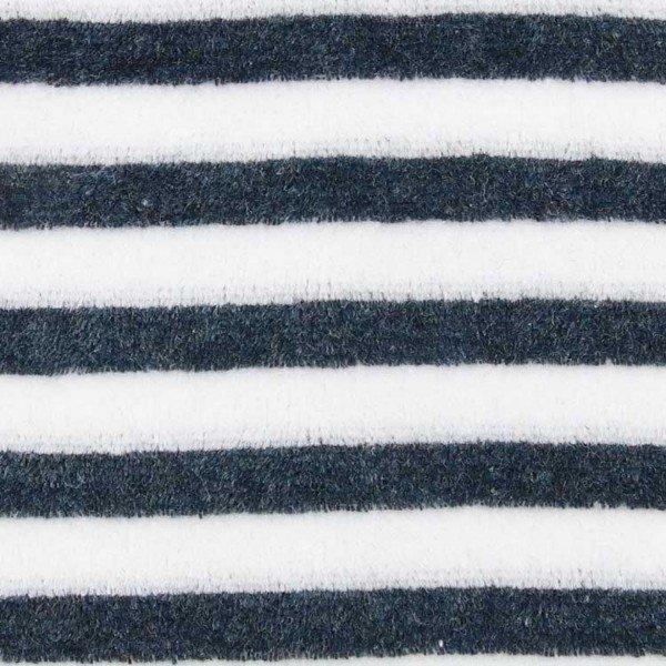 Nicky-Plüsch Stripe - col. 001 navy/ecru