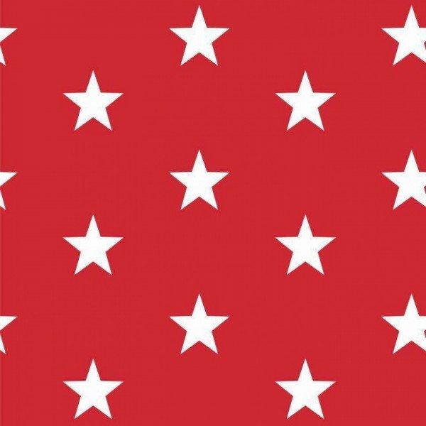 Baumwolle Design Stars - col. 004 rot