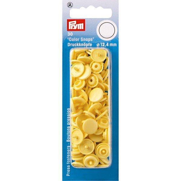 Nähfrei-Druckknöpfe Color Snaps rund 12,4 mm banane 30 St