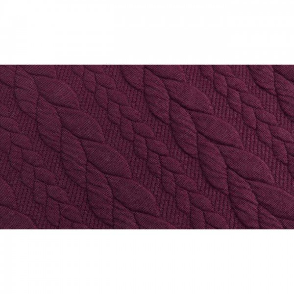 Cable: Sweat-Stoff mit Jaquard-Zopfmuster - col. 1119 bordeaux