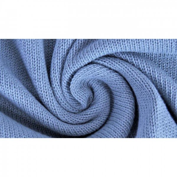 Strickstoff Knitted Cotton Uni - col. 0401 jeans