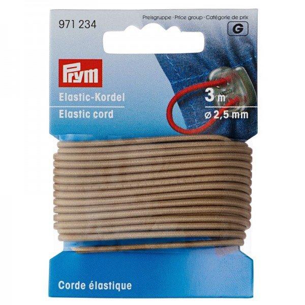 Elastic-Kordel 2,5 mm beige 3 m
