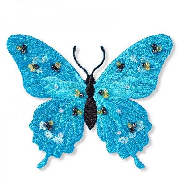 Applikation Fashion and Home - Schmetterling mit Perlen