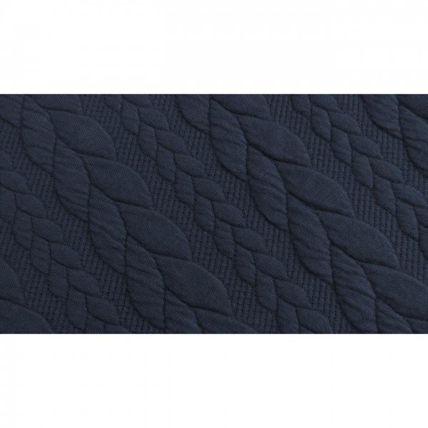 Cable: Sweat-Stoff mit Jaquard-Zopfmuster - col. 0008 navy