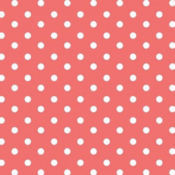 Baumwolle Design Dots - col. 024 coral