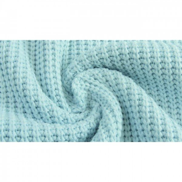 Grob-Strickstoff Knitted Cotton Cable - col. 1001 hellblau