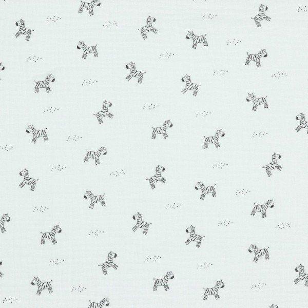 Double Gauze GOTS Zebra - col. 001 white