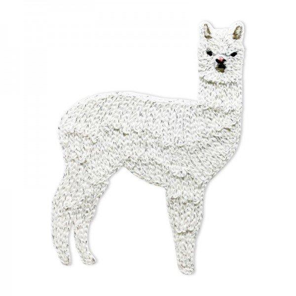 Applikation Tiermotive - Lama weiss