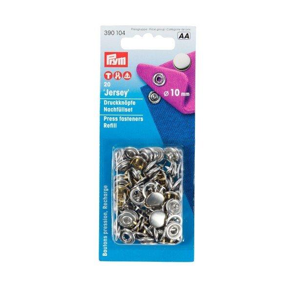 Nähfrei-Nachfüllpackung ohne Werkzeug 10 mm silberfarbig 20 St