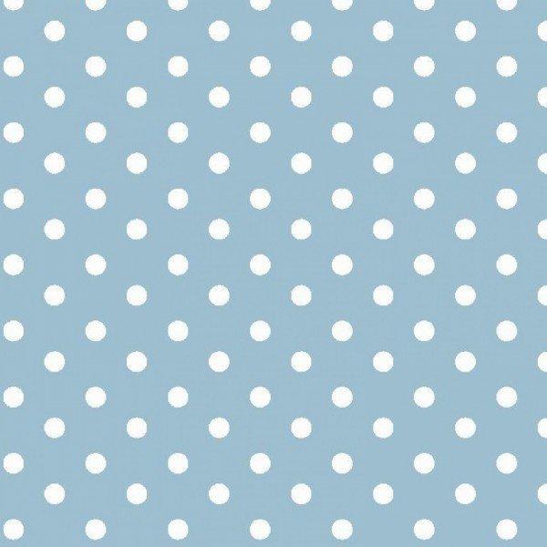 Baumwolle Design Dots - col. 020 hellblau
