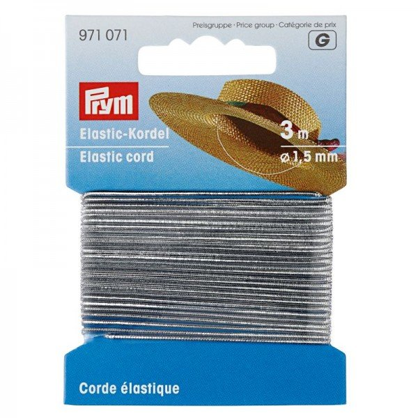 Elastic-Kordel 1,5 mm silberfarben 3 m