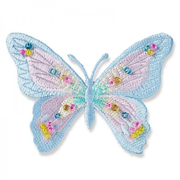 Applikation Fashion and Home - Schmetterling pastell Perlen