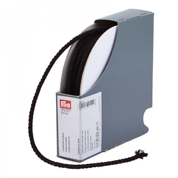 Parkakordel 4mm - schwarz / Kassette mit 25 m