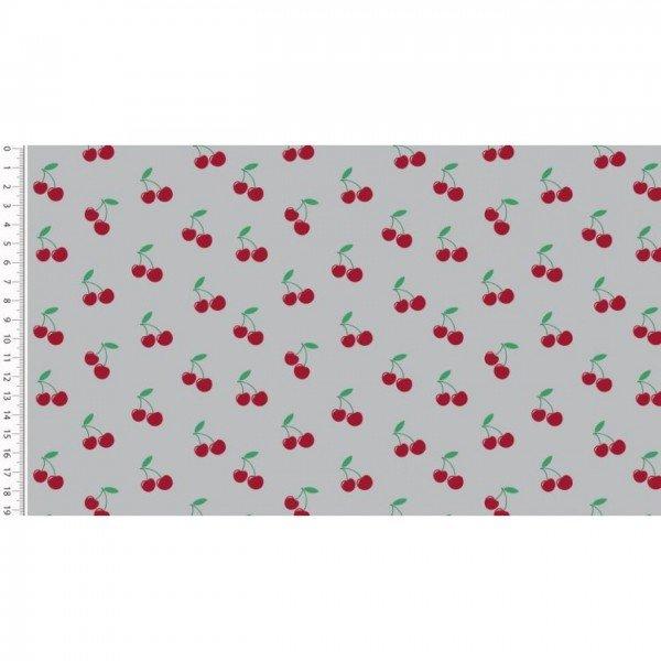 Baumwolle Design Poplin Cherry - col. 0062 taupe