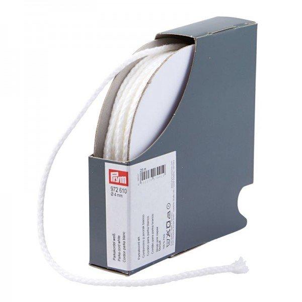 Parkakordel 4mm - weiß / Kassette mit 25 m