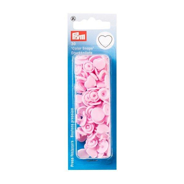 Nähfrei-Druckknöpfe Color Snaps Herz rosa 30 St