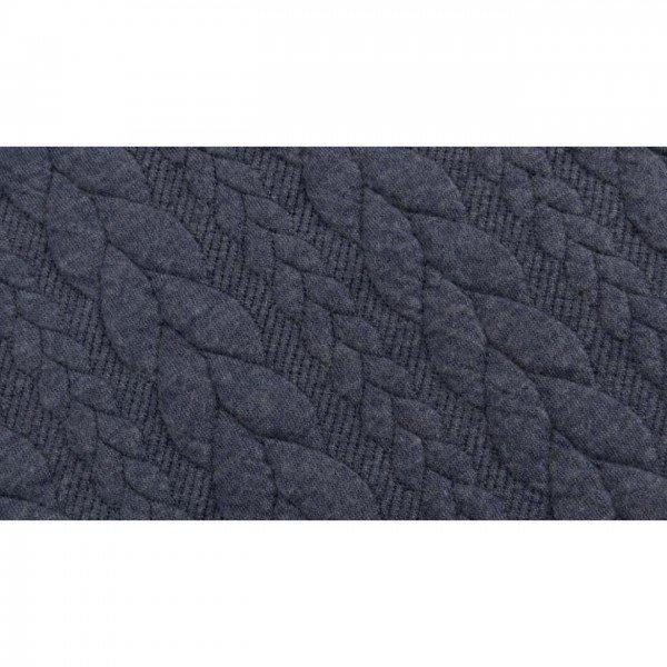 Cable: Sweat-Stoff mit Jaquard-Zopfmuster - col. 0009 blaugrau