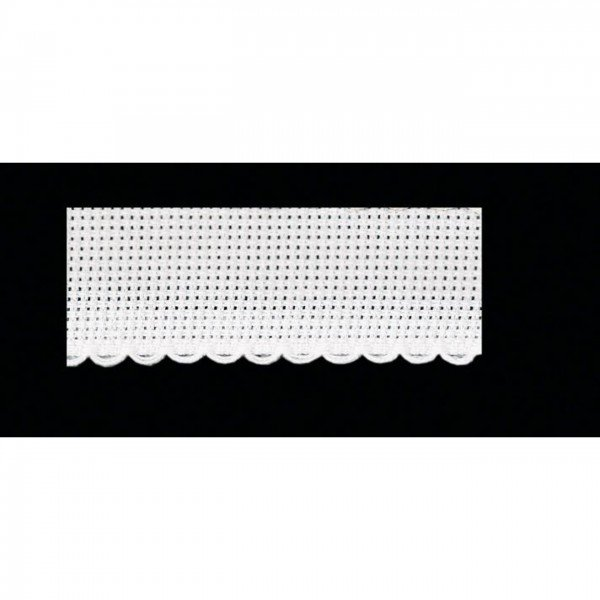Aida-Kreuzstichband 5,4 Stiche/cm, Stickband 80 mm - 1 weiß