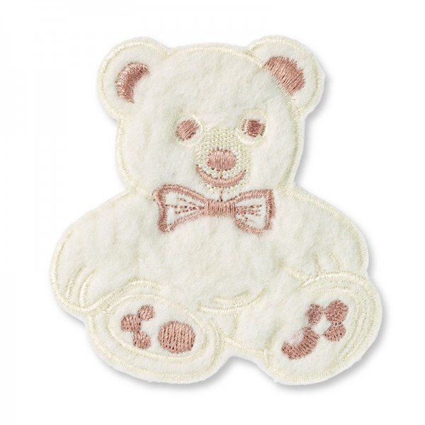 Applikation Kids and Hits - Teddy groß Flausch beige