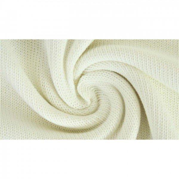 Strickstoff Knitted Cotton Uni - col. 0051 creme